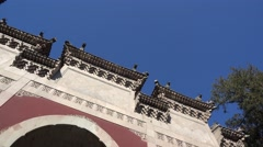 A temple gate in xiangshan mountain beijing Stock Footage