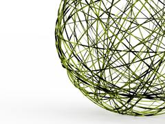 Abstract futuristic organic sphere concept rendered - stock illustration
