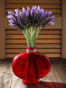 bundle of lavender flowers - stock photo