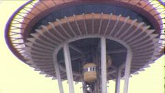 Space Needle Seattle Washington Landmark 1960s Vintage Film Home Movie 8675 Stock Footage