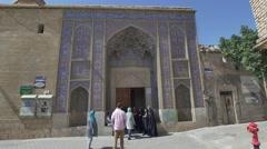 Nasir al-Mulk Mosque Entrance Stock Footage