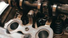 Cylinder head of the internal combustion engine - stock footage