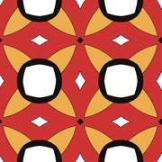 Children abstract ethnic pattern with bright - stock illustration