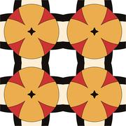 Stock Illustration of Children's abstract ethnic pattern with bright oranges