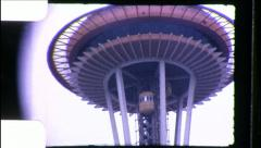 Space Needle Seattle Washington Landmark 1960s Vintage Film Home Movie 8678 Stock Footage