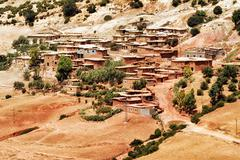 Bedouin village in Atlas mountains, Sahara, Morocco - stock photo