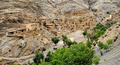 Bedouin town, Atlas mountains, Morocco - stock photo