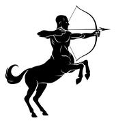 Rearing Centaur Archer - stock illustration