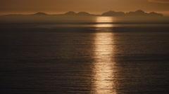 ICELAND Vestmannaeyjar sundown Sonnenuntergang Stock Footage