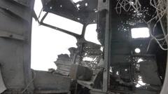ICELAND DC-3 plane Flugzeug wreck Wrack Stock Footage