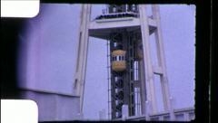 Seattle Space Needle Landmark Washington State Vintage Film Home Movie 8680 Stock Footage