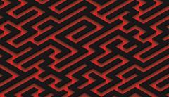 The maze, black labyrinth - endless Stock Illustration