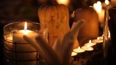 Holiday Pumpkin Halloween - stock footage