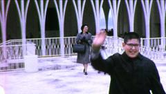 Boy Waves Seattle Center Pavilion Worlds Fair 1960s Vintage Film Home Movie 8682 Stock Footage