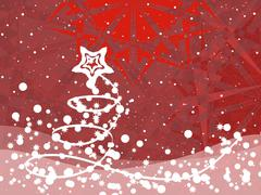 Abstract Christmas background - stock illustration