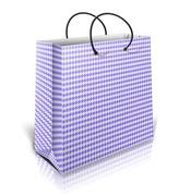 Blue gift bag - stock illustration