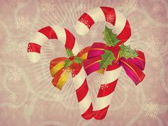 Candy canes retro background Stock Illustration