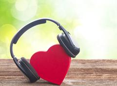 Romantic music concept - stock photo