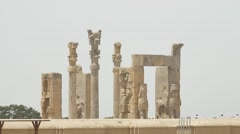 Persepolis gate side view Stock Footage