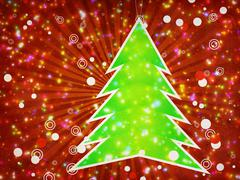 Christmas tree applique - stock illustration
