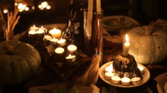 Hallowen decor table - stock footage