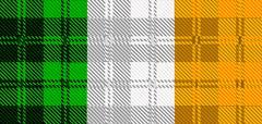 Irish Tartan Flag - stock illustration