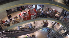 Shopping Mall Time-Lapse. Walking & Shopping. - stock footage