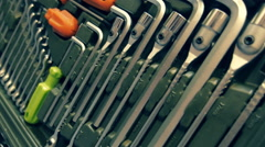 A set of tools for repair Stock Footage