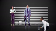 Series of jumping business people in slow motion Stock Footage
