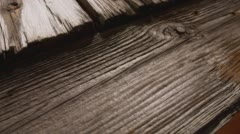 Old wood structure detail, 4k wooden texture macro Stock Footage