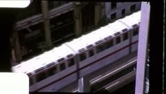 Seattle Monorail Urban Rail Train Mass Transit Vintage Film Home Movie 8685 Stock Footage