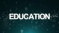 Animated background with letters. Concept education - stock footage