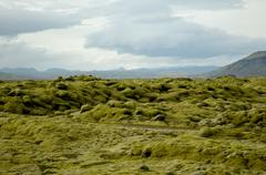 Barren landscape, Iceland - stock photo