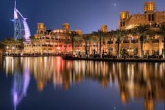 Dubai skyline at night, UAE Kuvituskuvat