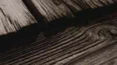 Rusty wood plank structure detail close-up 4k Stock Footage