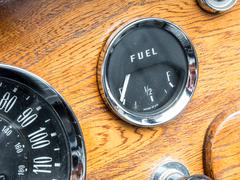 Vintage Fuel Gauge - stock photo