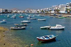 Waterfront of Arrecife, Lanzarote, Spain - stock photo