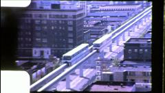 Seattle Monorail Urban Rail Train Mass Transit Vintage Film Home Movie 8688 Stock Footage