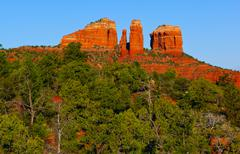 Cathedral Rock, Sedona, Yavapai County, Arizona, USA - stock photo