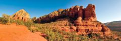 Coffee Pot Rock and Thunder Mountain Panorama, Sedona, Yavapai County, Arizona, Kuvituskuvat