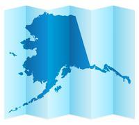 Alaska map - stock illustration