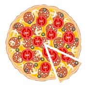 Pizza slice Stock Illustration
