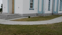 Church of the Intercession in Olekshitsy, Belarus Stock Footage