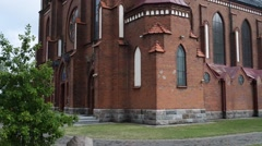 Collegiate Basilica of Holy Trinity in Myszyniec Stock Footage
