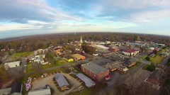 aerial view over york south carolina - stock footage