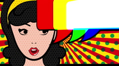 Pop art design, Video Animation - stock footage