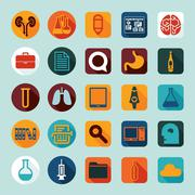 Set of medicine icons Stock Illustration