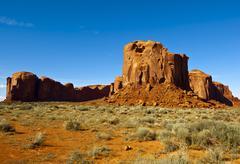 Spearhead Mesa, Monument Valley on the Arizona Utah border, USA - stock photo