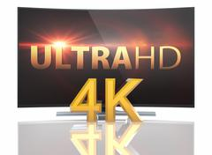 Stock Illustration of Ultra HD Smart Tv with Curved screen