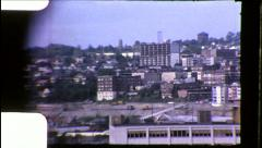 SEATTLE Freeway Construction Interstate 5 1960s Vintage Film Home Movie 8692 Stock Footage